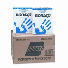 Boraxo Powdered Original Hand Soap, Unscented Powder, 5lb Box, (10 per Carton)