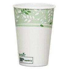 EcoSmart Hot Cups, PLA Lined Paper, Viridian, 50/Carton