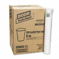 Coffee Dreams Design Paper Hot Cups, 8 Oz., 1000/Carton