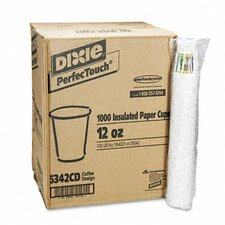 Coffee Dreams Design Paper Hot Cups, 12 Oz., 1000/Carton