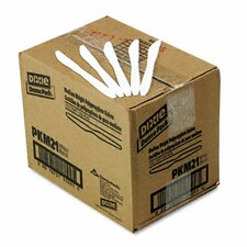 Plastic Cutlery, Mediumweight Knives, 1000/Carton