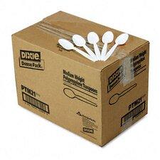 Plastic Cutlery, Mediumweight Teaspoons, 1000/Carton