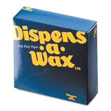 Dispens-A-Wax Waxed Deli Patty Paper Sheets in White