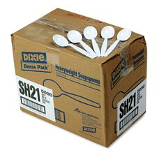 Heavyweight Polystyrene Soup Spoons Dense Pack in White