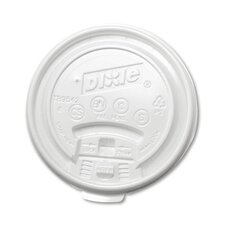 10 oz Plastic Lid for Hot Drink Cup in White
