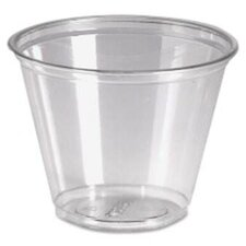 9 oz Cold Plastic Drink Cups in Clear