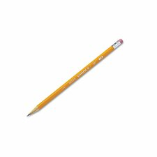 Oriole Woodcase Pencil, HB #2, Yellow Barrel, 12/pack