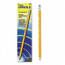 Oriole Woodcase Presharpened Pencil, 12/Pack