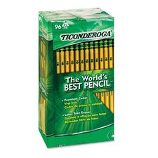 Ticonderoga Woodcase Pencil, Hb #2, 96/Pack