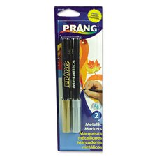Prang Metallic Washable Markers, Bullet Tip (2 Pack)