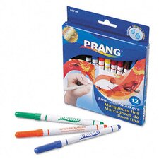 <strong>Dixon®</strong> Prang Washable Markers, Fine Point (Pack of 12)
