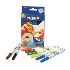 Prang Washable Markers, Fine Point (8 Pack)