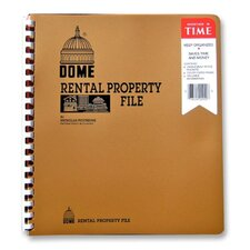 "Rental Property File,w/ Inside Pockets,Not Dated, 9-3/4""x11"""