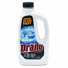 Drano Liquid Drain Cleaner, 32 Oz Safety Cap Bottle, 12/Carton
