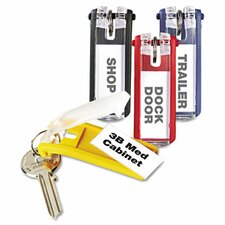 <strong>Durable Office Products Corp.</strong> Key Tags for Locking Key Cabinets, Plastic, 24/Pack
