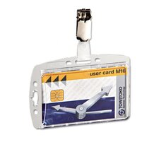 <strong>Durable Office Products Corp.</strong> Shell-Style ID Card Holder with Strap (Set of 25)