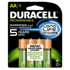 AA Rechargeable Battery, 4 Pack