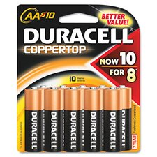 <strong>Duracell</strong> AA-Cell Coppertop Alkaline Batteries