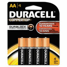 CopperTop Alkaline AA Batteries (Pack of 4)