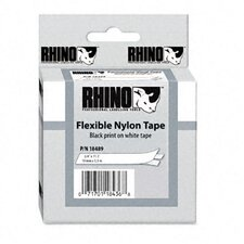 "<strong>Dymo Corporation</strong> Rhino Flexible Nylon Industrial Label Tape Cassette, 0.75"" x 11.5'"