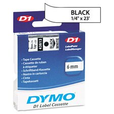 "<strong>Dymo Corporation</strong> D1 Standard Tape Cartridge for Label Makers, 0.25"" x 23'"