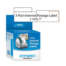 "30383 Shipping/PC Postage Label, 3 Part, 7""x2-1/4"", 150 Labels per Box, White"