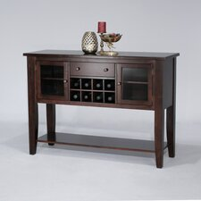 Cafe Xpress Contemporary Sideboard in Distressed Merlot with Cherry Veneer Top