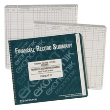 "Record Form for Bank Acct./Expense, w/ Pockets, 8-3/4""x10"""