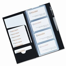 Rolodex Low Profile Business Card Book, 96 Card Capacity