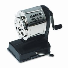 Boston Model KS Vacuum Table/Wall-Mount Manual Pencil Sharpener, Black/Chrome