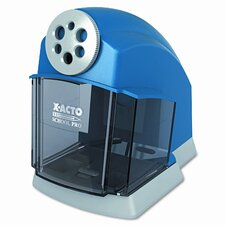 School Pro Desktop Electric Pencil Sharpener, Blue/Gray