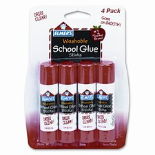 Washable All Purpose School Glue Sticks (4 Pack)
