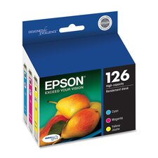 <strong>Epson America Inc.</strong> T126520 (126) High-Yield Ink, 3/Pack