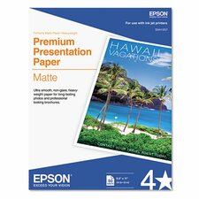 S041257 Heavyweight Matte White Inkjet Paper, 97 Brightness, 45lb, Letter, 50 Sheets