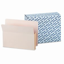 "Five"" Expansion File, 10 Pockets, Straight Cut, Letter, 10/Box"