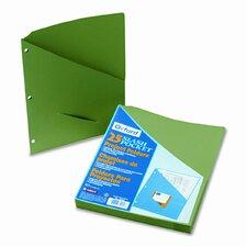 Essentials Slash Pocket Project Folders, Jacket, Letter, 25/Pack