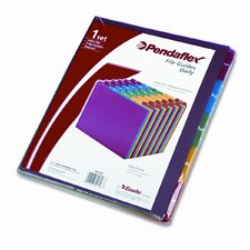 Top Tab File Guides, Daily, 1/5 Tab, Polypropylene, Letter (Set of 31)