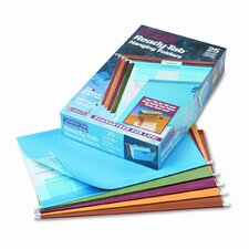 Ready-Tab Lift Tab Reinforced Hanging Folders, 1/5 Tab, Legal, 25/Box