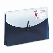 Four-Pocket Slide File Wallet, Letter, Polypropylene