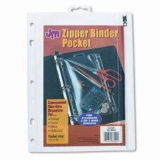 Oxford Zippered Ring Binder Pocket, 8 X 10-1/2