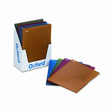 Oxford Fashion Polyport Twin-Pocket Portfolio, Polypropylene, 25/Box