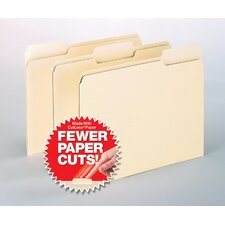 Cutless File Folders, 1/3 Cut Top Tab, Letter, 100/Box