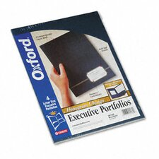 Oxford Monogram Series Business Portfolio, Cover Stock, 4/Pack