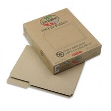 <strong>Esselte Pendaflex Corporation</strong> Earthwise Recycled File Folders, 1/3 Cut Top Tab, Letter, 100/Box