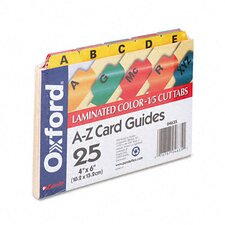 <strong>Esselte Pendaflex Corporation</strong> Oxford Laminated Index Card Guides, Alpha, 1/5 Tab, 4 X 6 (Set of 25)