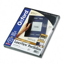 Oxford Imperial Series Laserview Business Portfolio, Cover Stock, 10/Pack