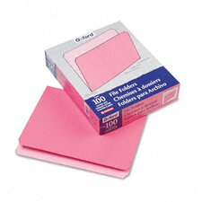 Two-Tone File Folders, Straight Cut, Top Tab, Letter, 100/Box