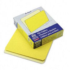 Two-Tone File Folder, Straight Top Tab, Letter, 100/Box
