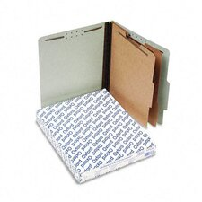 Pressboard Classification Folders, Letter, Six-Section, 10/Box