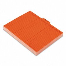 <strong>Esselte Pendaflex Corporation</strong> Salmon Color Charge-Out Guides, 1/5 Tab, 11 Point Stock, Letter, 100/Box